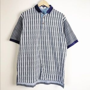 Vintage Men's Printed Polo Shirt